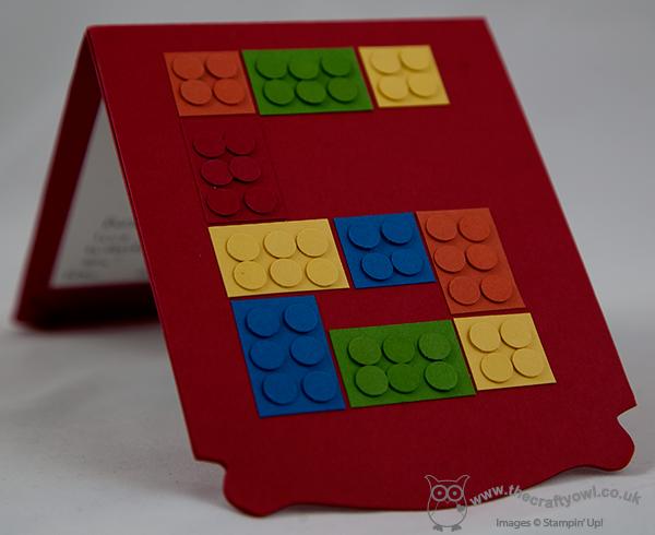The Crafty Owl Pop Up Lego City Fireman Birthday Card
