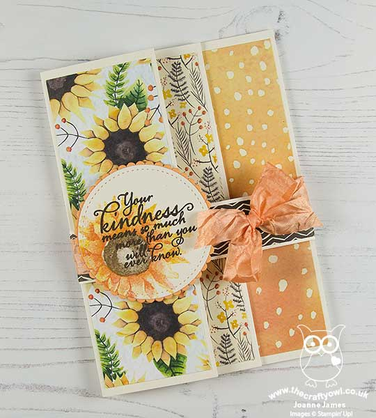 The Crafty Owl Painted Harvest Triple Fold Card